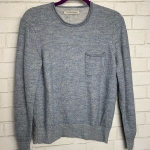 Outerknown Mens Sweater Gray Heathered Alpaca M